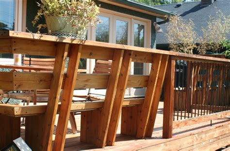 how to build deck benches built in deck bench deck transitional with built in deck