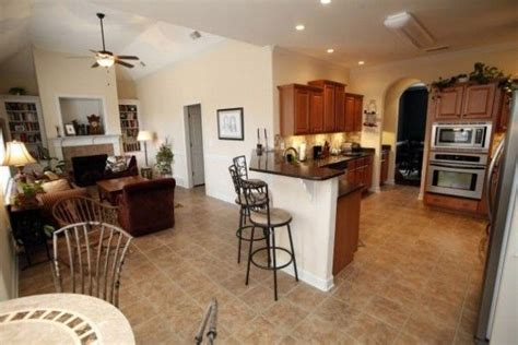 Open Floor Plans With Large Kitchens Open Kitchen And Living Room Floor Plans Photo The Open