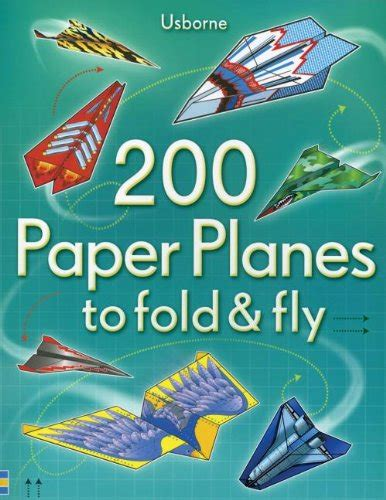 Fold And Fly Paper Planes Book - 200 paper planes to fold fly by usborne books edc533717