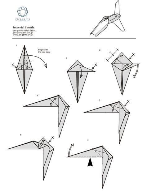 How To Make Paper Wars Ships - 10 diagrams to create your own quot wars quot origami