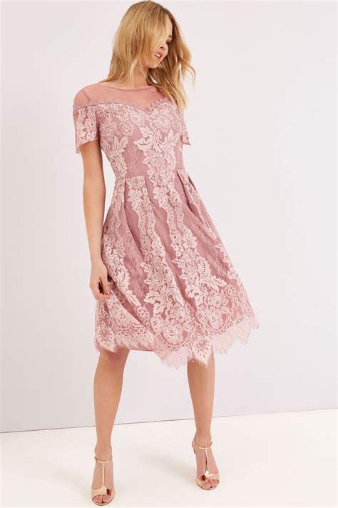 Dsbm223781 Pink Dress Dress Pink dusty pink lace dress from uk