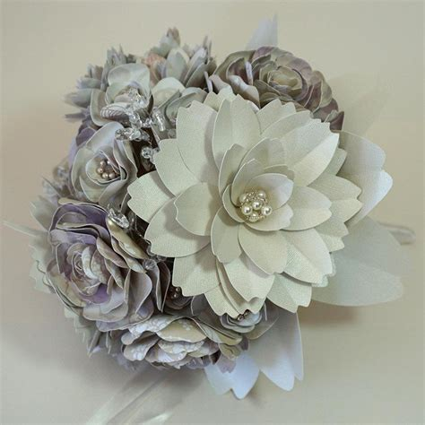 Handmade Paper Flower Bouquet - paper flower bouquet for wedding handmade flowers with
