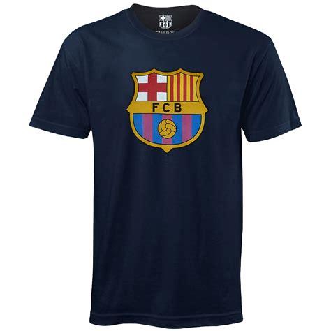 T Shirt Fc Barcelona fc barcelona official football gift mens crest t shirt ebay