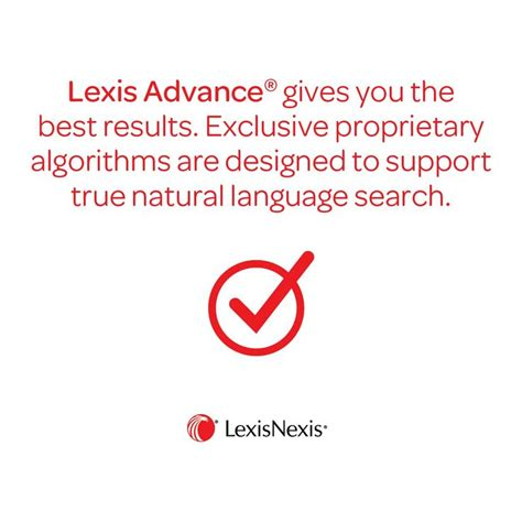 lexis advance gives you the best results lexis advance