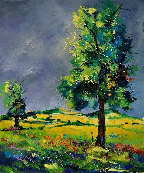 Landscape Artwork For Sale Pol Ledent Two Oaks 56 Painting Artwork