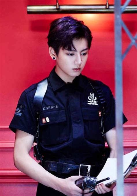 Photocard Bangtan Boys Bts Dope Sick Unofficial jungkook as a oficer for dope favroite kpop groups officer