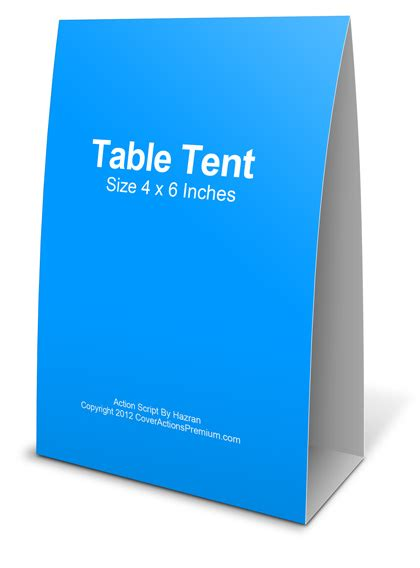 4x6 table tent mockup cover actions premium mockup psd