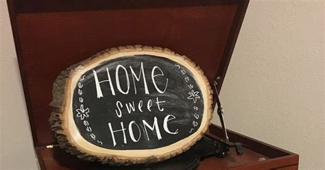 chalkboard paint big w diy chalkboard wood slices my southern actuality