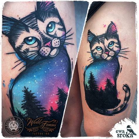 tattoo old school cat sky cat tattoo http giantfreakintattoo com sky cat