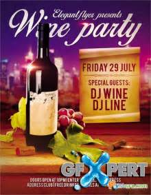 21 wine flyer free psd ai eps format download free