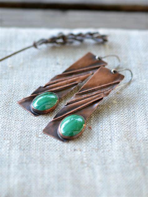 Handmade Artisan Earrings - copper earrings handmade artisan jewelry copper