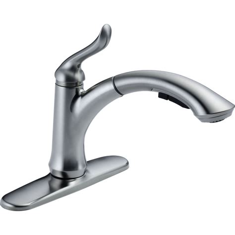 delta faucet  ar dst linden arctic stainless pullout spray kitchen faucets efaucetscom