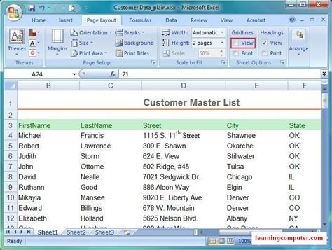 excel layout tab microsoft excel tutorial page layout tab in ms excel