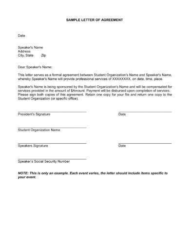 16+ Agreement Letter for Payment Examples - PDF, DOC | Examples