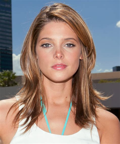 Ashley Greene Long Straight Casual Hairstyle   Light
