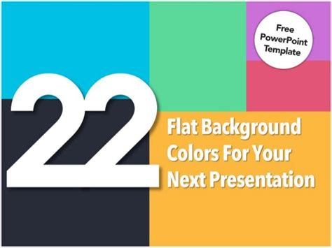 template ppt flat free 22 flat background colors for your presentation free
