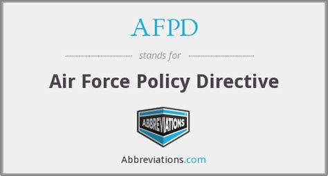 by order of the air force policy directive 36 26 afpd air force policy directive