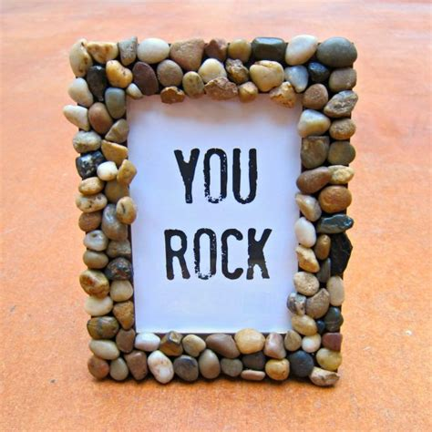 tutorial rock accented home decor dollar store crafts