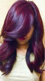plum hair color plum purple highlights burgundy plum hair color