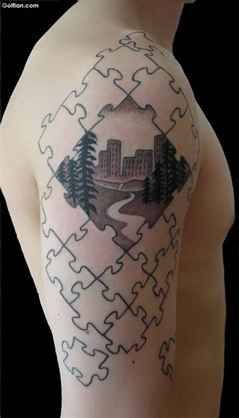 50 most beautiful 3d puzzle tattoos realistic 3d puzzle