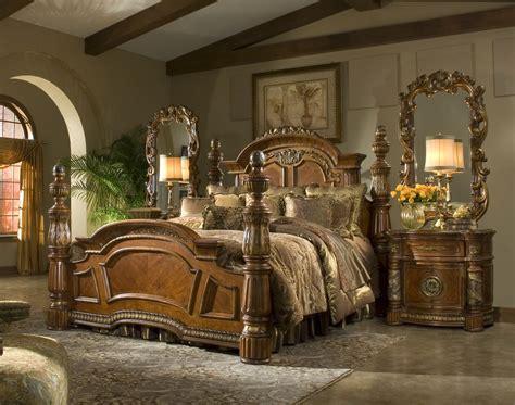 villa valencia bedroom set  poster king bedroom set