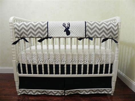 Baby Boy Deer Crib Bedding Deer Crib Bedding Set Boy Baby Bedding Crib Rail Cover Deer Baby Bedding Navy And