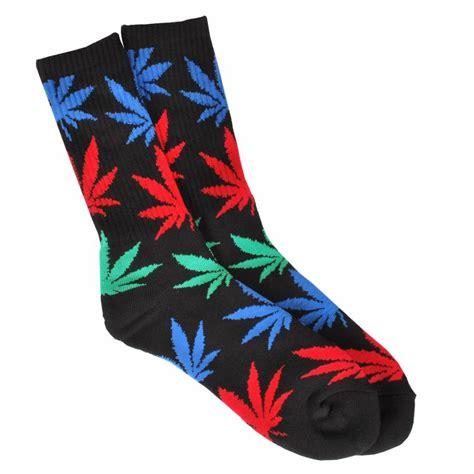 socks huf huf plantlife socks black multi huf from