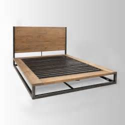 West Elm Canopy Bed Frame Rustic Industrial Pine Iron Bed Furniture Ideas