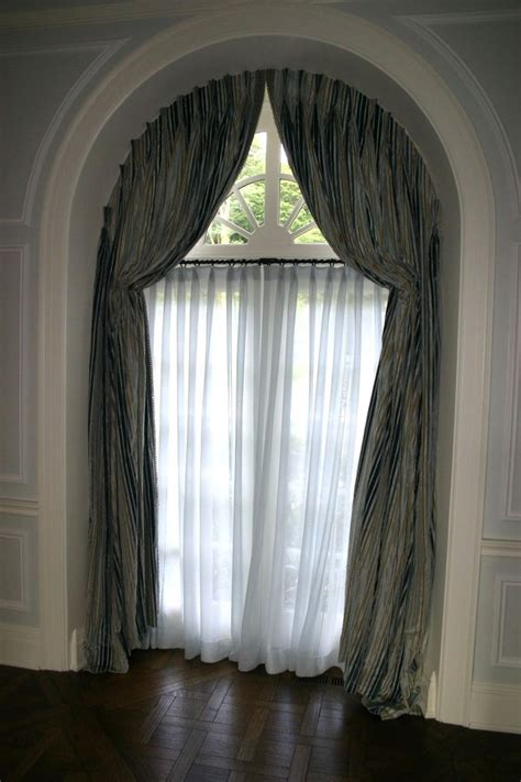 how to hang curtains on arched window 1000 ideas about arched window coverings on pinterest