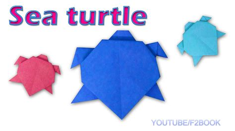 Easy Origami Turtle - origami sea turtle paper animals turtle easy make