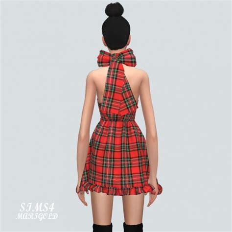 Dress Ribbon 4 sims4 marigold x mini dress with ribbon x sims 4 downloads