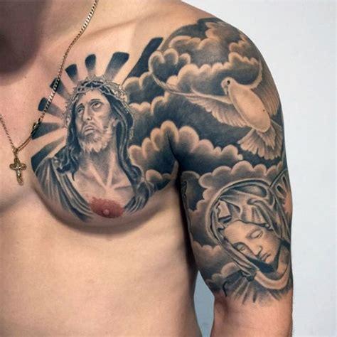 tattoo maria und jesus 47 cool christian tattoo ideen f 252 r m 228 nner 187 tattoosideen com