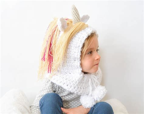 unicorn hood pattern toddler magical unicorn crochet hood pattern mama in a