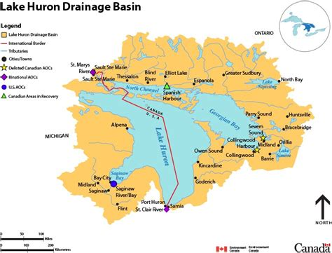 map of canada and lakes lake huron drainage basin map canada ca