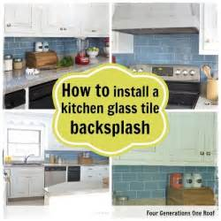 How To Install Glass Tile Kitchen Backsplash by How To Install A Tile Backsplash This Old House Tattoo