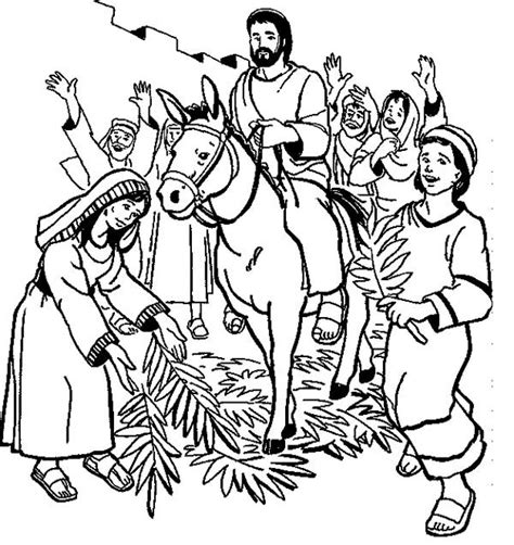 Palm Sunday Coloring Pages Quotes Palm Sunday Coloring Pages