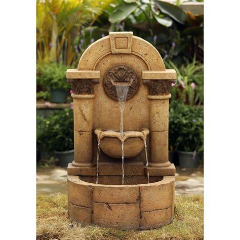 Garden Wall Fountains Jeco Marble Pillar Garden Wall Fcl124 The Home