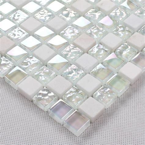 White Mosaic Bathroom Tiles by White Glass Mosaic Tile Deatils Tile Glass
