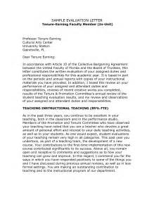 Cover Letter Tenure Track by Evaluation Letter Sle The Best Letter Sle