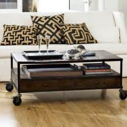 Rustic Coffee Table With Wheels Rustic Coffee Table With Wheels Digs