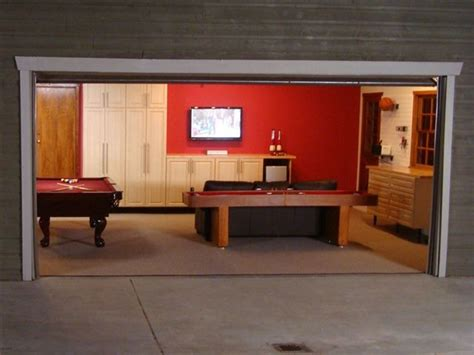 deluxe garage game room contemporary garage and shed