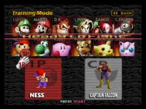 Super smash brothers character selection introduction to game