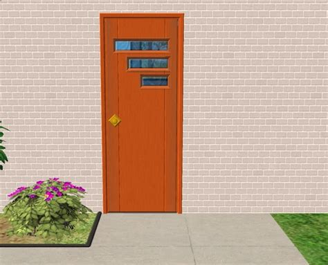 Retro Front Doors Mod The Sims New Mesh Tresvisions Retro Front Door
