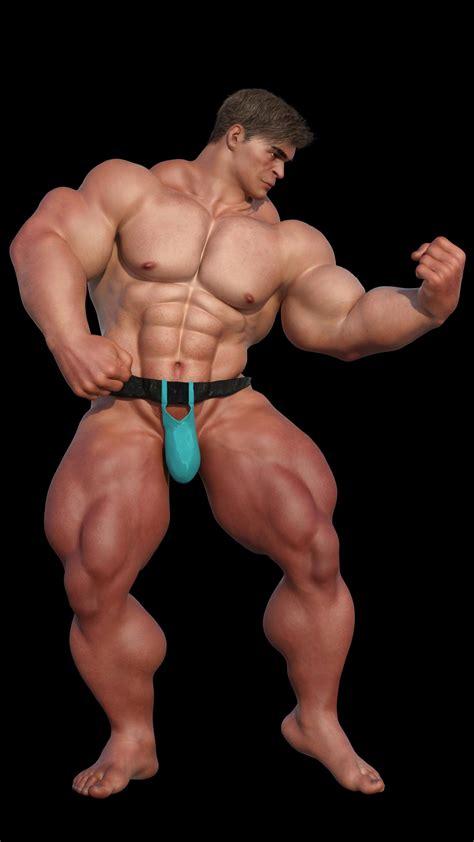 bodybuilder brute    rendering renderhub gallery