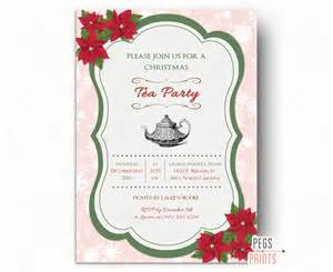 tea invitation printable by pegsprints