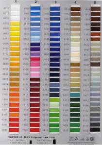 thread colors new isacord embroidery thread charts feature real thread