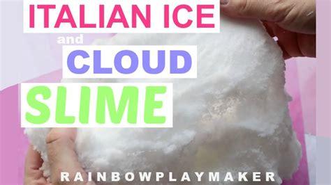 best diy slime in the world italian icee cloud diy slime tutorial satisfying slime recipe