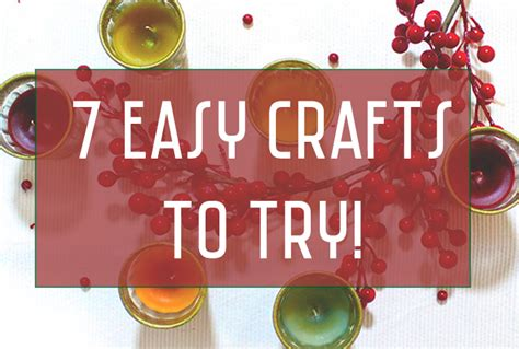 7 Trendy Crafts To Try by 7 Easy Crafts To Try This Week