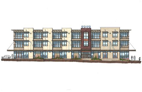 Colonial Floor Plan revitalizing the chicon neighborhood with a mixed use