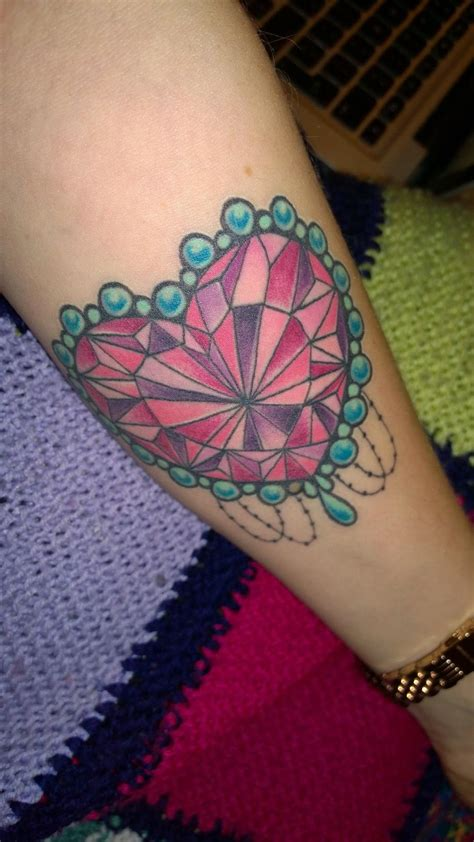 pearl edged heart jewel tattoo yeahtattoos com